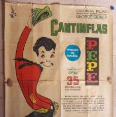 Cine: CANTINFLAS PEPE Y 35 ESTRELLAS INVITADAS MAURICE CHEVALIER, ZSA ZSA GABOR AÑO 1960 POSTER DOS PIEZAS. Lote 115606351