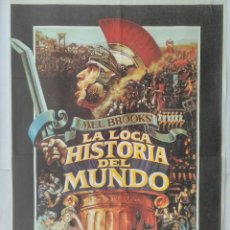 Cine: CARTEL CINE, LA LOCA HISTORIA DEL MUNDO. MEL BROOKS', DOM DELUISE, MADELINE KAHN. AÑO 1981 C312. Lote 116156903