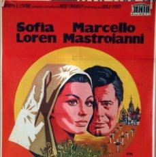 Cine: LOS GIRASOLES. SOFIA LOREN-MARCELLO MASTROIANNI-VITTORIO DE SICA. CARTEL ORIGINAL 1970 70X100. Lote 116229295