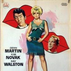 Cine: BÉSAME TONTO. DEAN MARTIN-KIM NOVAK-BILLY WILDER. CARTEL ORIGINAL 1970 70X100. Lote 116229379