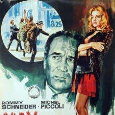 Cine: MAX Y LOS CHATARREROS. ROMY SCHNEIDER-MICHEL PICCOLI. CARTEL ORIGINAL 1971 70X100. Lote 116229479