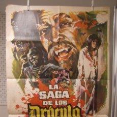 Cine: CARTEL CINE ORIG LA SAGA DE LOS DRACULA (1973) 70X100 / HELGA LINÉ , LEÓN KLIMOVSKY. Lote 116294643