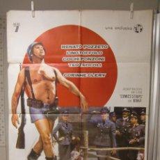 Cine: CARTEL CINE ORIG STURMTRUPPEN JO QUE GUERRA (1976) 70X100 / SALVATORE SAMPERI. Lote 116295715