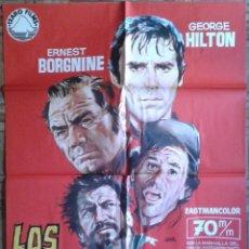 Cine: LOS DESESPERADOS. POSTER ESTRENO 70X100. GEORGE HILTON, ERNEST BORGNINE, ALBERTO DE MENDOZA. Lote 116328503