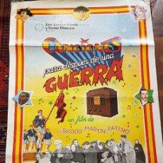 Cine: CCANCIONES PARA DESPUÉS DE UNA GUERRA. CARTEL.. Lote 116381599