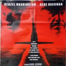 Cinema: ORIGINALES DE CINE: MAREA ROJA (DENZEL WASHINGTON, GENE HACKMAN) 70X100. Lote 116457919