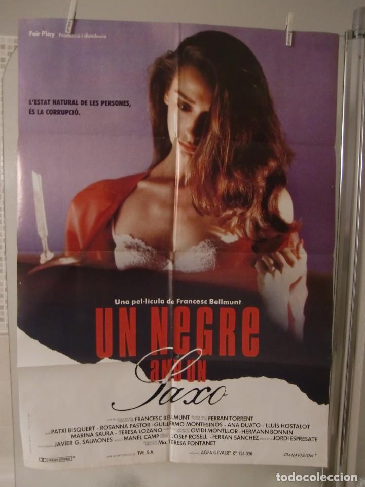 CARTEL CINE ORIG UN NEGRE AMB UN SAXO (1989) 70X100 / GUILLERMO MONTESINOS, ROSANA PASTOR (Cine - Posters y Carteles - Clasico Español)