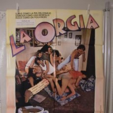 Cine: CARTEL CINE ORIG LA ORGÍA (1978) 70X100 / JUANJO PUIGCORBÉ. Lote 128907768