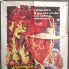 Cine: YK36 INDIANA JONES Y EL TEMPLO MALDITO SPIELBERG HARRISON FORD POSTER ORIGINAL 70X100 ESTRENO. Lote 116539551