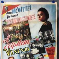 Cine: EL CAPITAN VENENO - SARA MONTIEL, FERNANDO FERNAN GOMEZ - POSTER ORIGINAL ESTRENO. Lote 116548871
