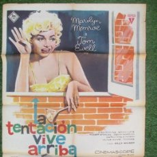 Cine: CARTEL CINE, LA TENTACION VIVE ARRIBA, MARILYN MONROE, TOM EWELL, 1963, MAC, C1373A. Lote 141206802