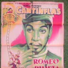 Cine: CARTEL CINE, ROMEO Y JULIETA, CANTINFLAS, MARIO MORENO, Mª ELENA MARQUES, ALBERICIO, 1958, C1374A. Lote 116888559