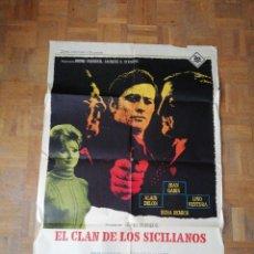Cine: POSTER PELÍCULA EL CLAN DE LOS SICILIANOS. Lote 116910343