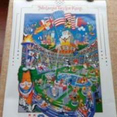 Cine: MELANIE TAYLOR KENT US OLYMPICS CEN´TOON´IAL POSTER, 1996, U.S.A., 24X36 INCHES. Lote 116972595