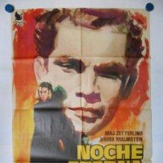 Cine: NOCHE ETERNA - CARTEL ORIGINAL 1963 - 70 X 100. Lote 116999803