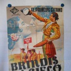 Cine: BRINDIS AL CIELO - CARTEL ORIGINAL LITOGRAFICO - 70 X 100. Lote 117098815