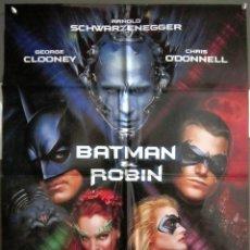 Cine: QS83 BATMAN Y ROBIN GEORGE CLOONEY ARNOLD SCHWARZENEGGER POSTER ORIGINAL 70X100 ESTRENO. Lote 117134503