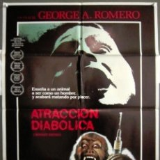 Cine: YK73 ATRACCION DIABOLICA GEORGE A. ROMERO TERROR POSTER ORIGINAL 70X100 ESTRENO. Lote 117135227