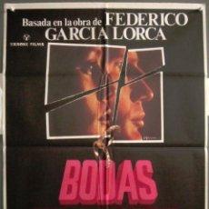 Cine: QS92 BODAS DE SANGRE IRENE PAPAS FEDERICO GARCIA LORCA POSTER ORIGINAL 70X100 ESTRENO. Lote 117142691