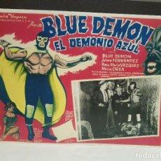 Cine: ANTIGUO CARTEL PAPEL CARTON BLUE DEMON EL DEMONIO AZUL VER FOTOS. Lote 117206071