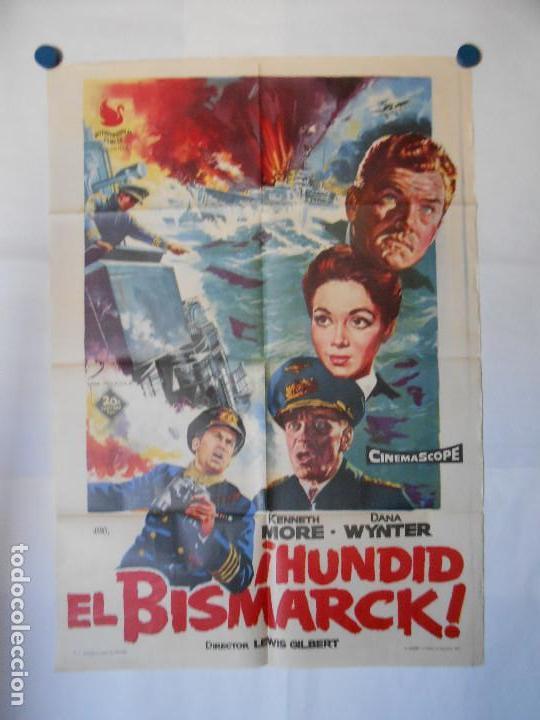 HUNDID EL BISMARK - CARTEL ORIGINAL 70 X 100 (Cine - Posters y Carteles - Acción)
