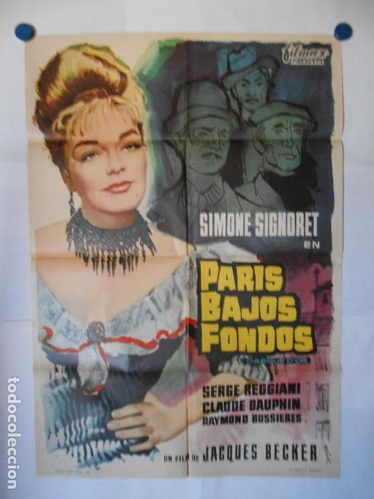 PARIS BAJOS FONDOS - CARTEL ORIGINAL 70 X 100 (Cine - Posters y Carteles - Acción)