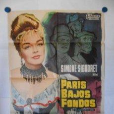 Cine: PARIS BAJOS FONDOS - CARTEL ORIGINAL 70 X 100. Lote 117207943