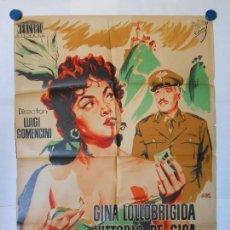 Cine: PAN AMOR Y CELOS - CARTEL LITOGRAFICO ORIGINAL 70 X 100. Lote 117208283