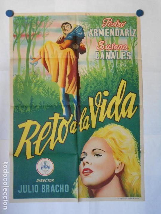 RETO A LA VIDA - CARTEL LITOGRAFICO ORIGINAL 70 X 100 (Cine- Posters y Carteles - Drama)