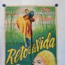 Cine: RETO A LA VIDA - CARTEL LITOGRAFICO ORIGINAL 70 X 100. Lote 117209755