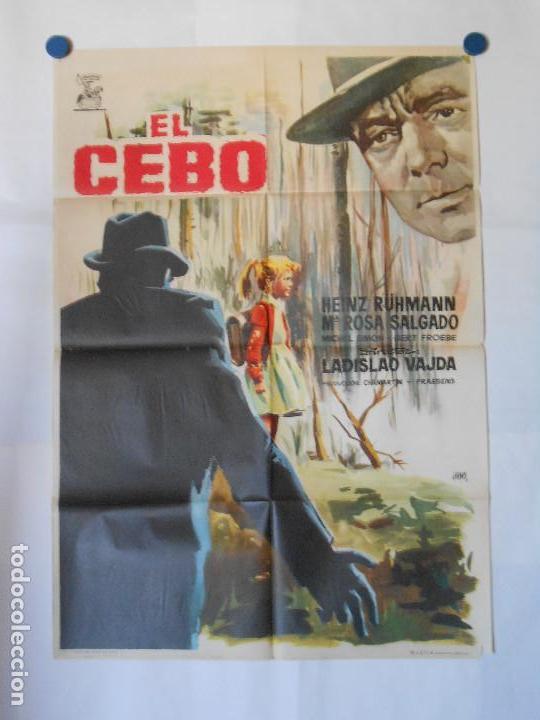 EL CEBO - CARTEL ORIGINAL 70 X 100 (Cine - Posters y Carteles - Terror)