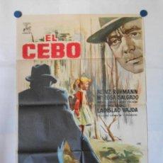 Cine: EL CEBO - CARTEL ORIGINAL 70 X 100. Lote 117210467