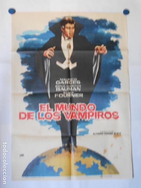 EL MUNDO DE LOS VAMPIROS - CARTEL ORIGINAL 70 X 100 (Cine - Posters y Carteles - Terror)