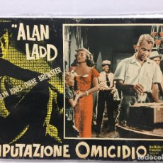 Cine: CARTEL ORIGINAL CINE ITALIA IMPUTAZIONE OMICIDIO ALAN LADD. Lote 117372443