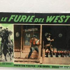 Cine: CARTEL ORIGINAL CINE ITALIA LA FURIE DEL WEST VIRGINIA GREY 1959. Lote 117372563