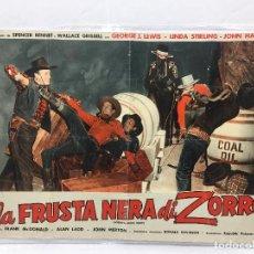 Cine: CARTEL ORIGINAL CINE ITALIA LA FRUSTA NERA DI ZORRO ALAN LADD. Lote 117373735
