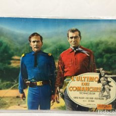 Cine: CARTEL ORIGINAL CINE ITALIA L´ULTIMO DEI COMANCHES AÑOS 50. Lote 117373827