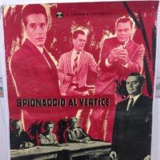 Cine: CARTEL ORIGINAL CINE ITALIA SPIONACCIO AL VERTICE 1960 ERNEST BORGNINE. Lote 117374107
