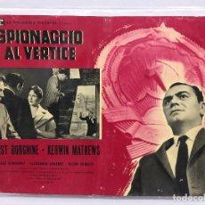 Cine: CARTEL ORIGINAL CINE ITALIA SPIONACCIO AL VERTICE 1960 ERNEST BORGNINE. Lote 117374231