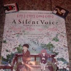 Cine: POSTER ORIGINAL A SILENT VOICE 100X70. Lote 117376179