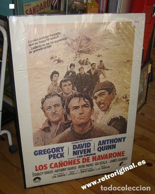 CARTEL CINE PELÍCULA LOS CAÑONES DE NAVARONE. ORIGINAL. MEDIDAS: 100 X 70 CMS (Cine - Posters y Carteles - Bélicas)