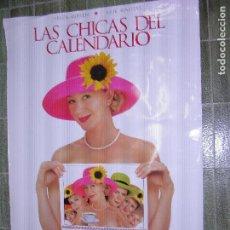 Cine: F1LAS CHICAS DEL CALENDARIO CARTEL ORIGINAL DE CINE 90 X 69. Lote 117560535