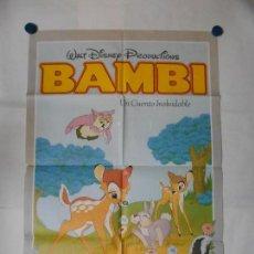 Cine: BAMBI - WALT DISNEY - CARTEL ORIGINAL 70 X 100. Lote 117573827