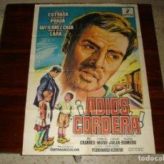 Cine: CARTEL DE CINE (100X70): ADIOS CORDERA, CARLOS ESTRADA - AÑO 1968. Lote 117656871