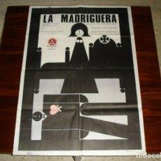 Cine: CARTEL DE CINE (100X70): LA MADRIGUERA. GERALDINE CHAPLIN, FILM DE CARLOS SAURA - AÑO 1969. Lote 117664931