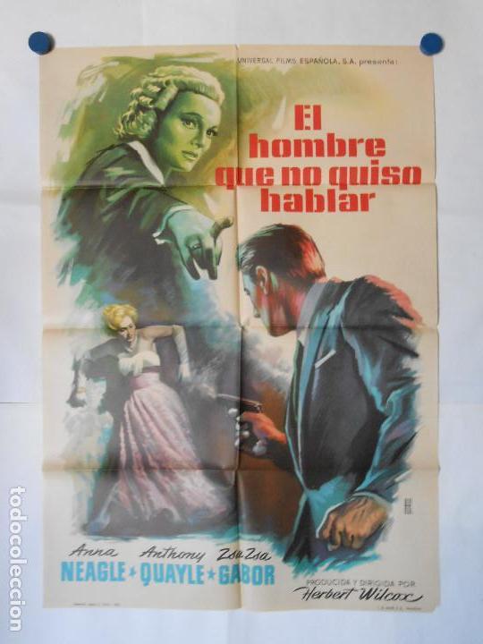 EL HOMBRE QUE NO QUISO HABLAR - 1961 - CARTEL ORIGINAL 70 X 100 (Cine - Posters y Carteles - Acción)