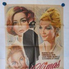 Cine: CLIMAS - 1966 - CARTEL ORIGINAL 70 X 100. Lote 117771059