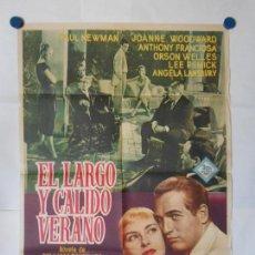 Cine: EL LARGO Y CALIDO VERANO - CARTEL ORIGINAL 70 X 100. Lote 117771143