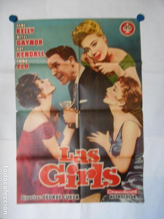 LAS GIRLS - CARTEL ORIGINAL 70 X 100 (Cine - Posters y Carteles - Aventura)