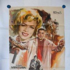 Cine: 125 RUE MONTMATRE - 1961 - CARTEL ORIGINAL 70 X 100. Lote 117827195